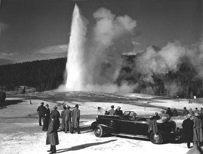 FDR Visits Old Faithful, 1937