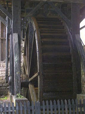 Hopewell's current waterwheel running.