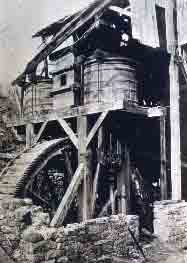 Historic image of the waterwheel.
