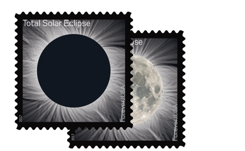 Total Eclipse of the Sun - forever stamp