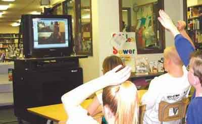 Students participate in distance learning