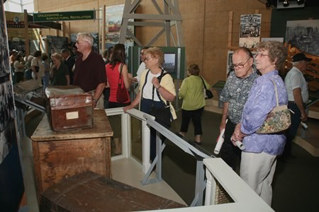 visitors to heritage center