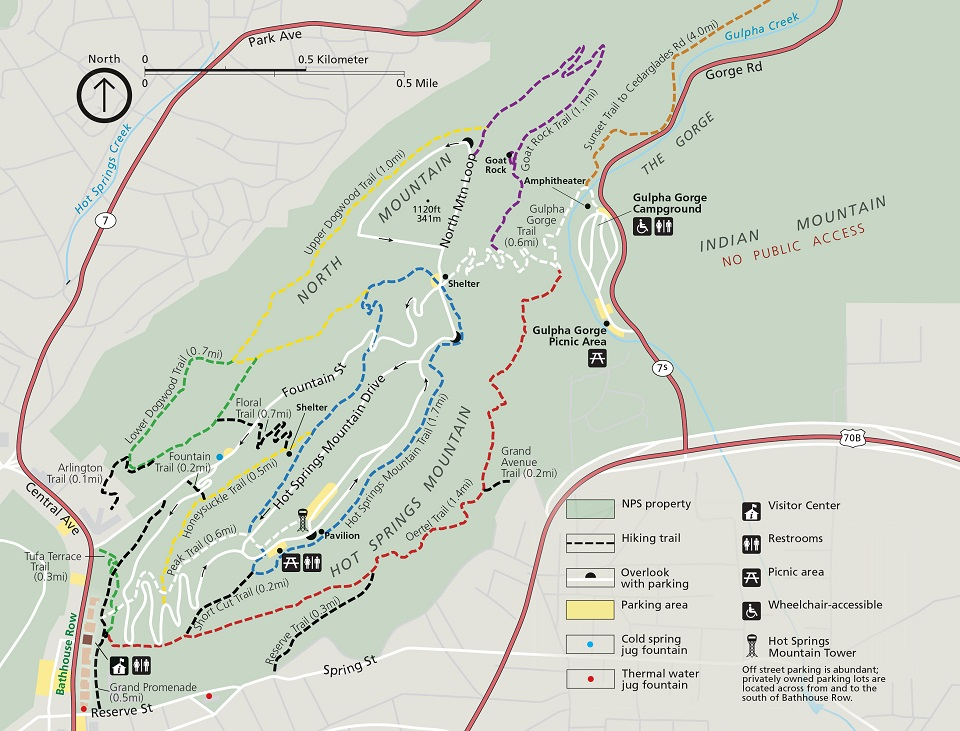 Hiking Trails - Hot Springs National Park (U.S. National ...