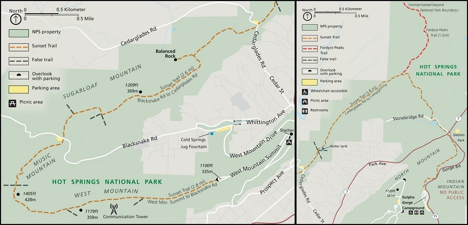 A trail that completes a long circuit from West Mountain to the Gulpha Gorge campground