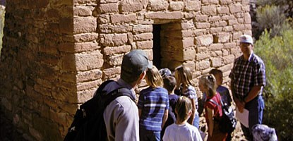 Local third graders visiting Square Tower