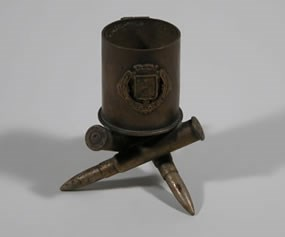 WWI Trench art toothpick or match holder