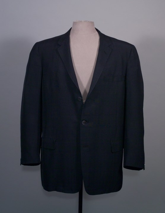 Dark blue silk suit, HSTR 3585