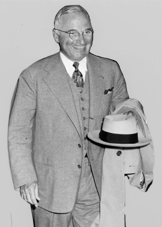 Harry Truman walking, 1950.