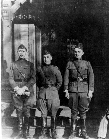 Harry Truman and Ted Marks in uniform, 1919.