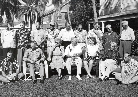 Presidential party at Key West, December 1951.