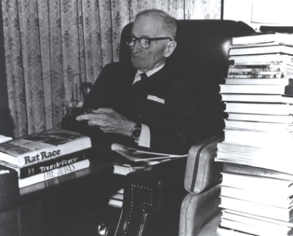 Truman sit in his study, December 1971.