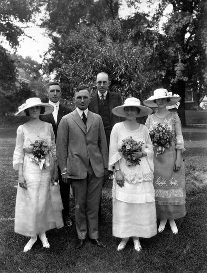 Wallace-Truman wedding party, June 28, 1919.