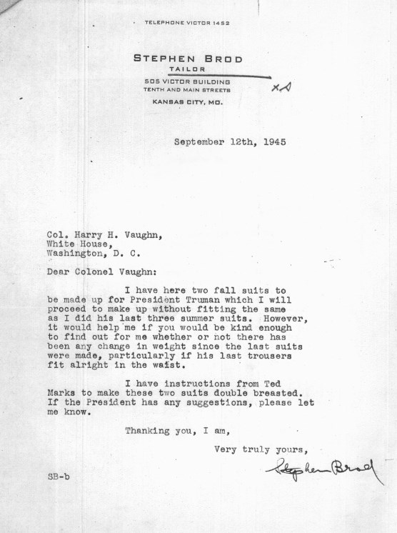 Letter from Stephen Brod, 1945