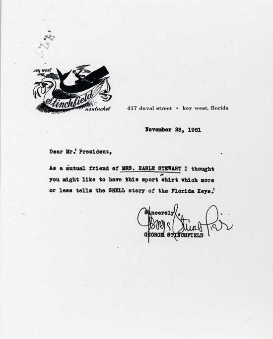 Letter to President Truman from George Stinchfield.