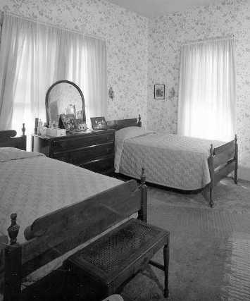 Harry and Bess Truman's second floor bedroom.