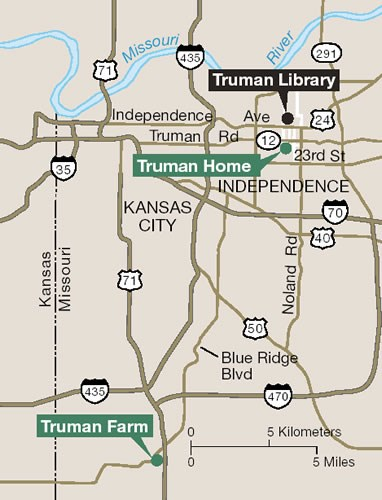 Harry S Truman NHS site locations within the KC metro