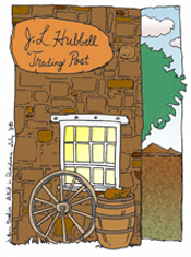 Color the trading post!