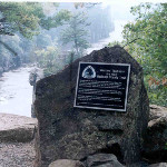 The western Terminus of the Ice Age Trail in Interstate State Park