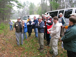 Participants receive instructions before visiting an archeological site.