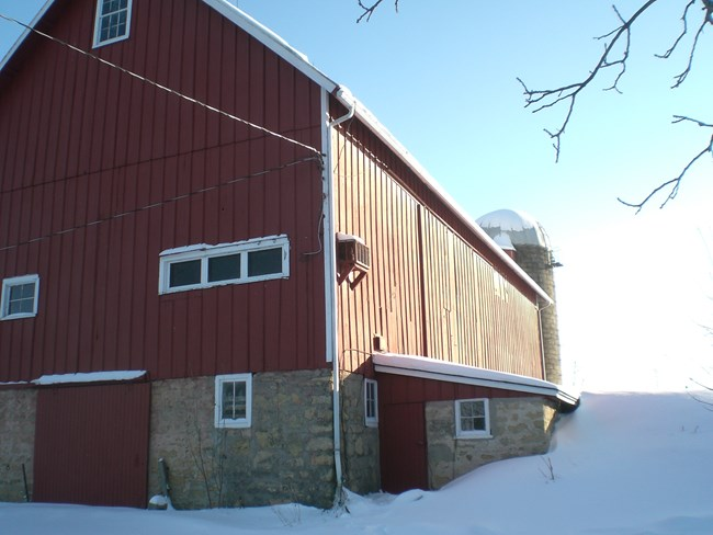 Former Dairy Barn on NPS property in Cross Plains, Wisconsin.