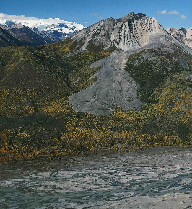 A rock glacier in Wrangell-St Elias National Park and Preserve.