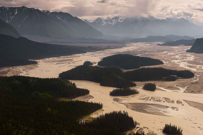 The braided Chitina River in Wrangell-St Elias.