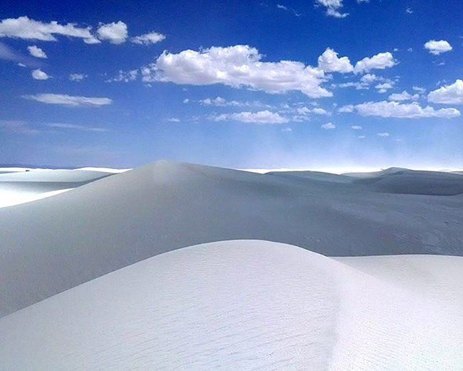 Gypsum sand dunes at White Sands National Monument