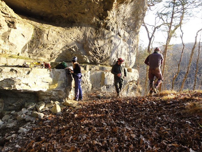 Bat crew preparing to work at Mammoth Cave National Park.