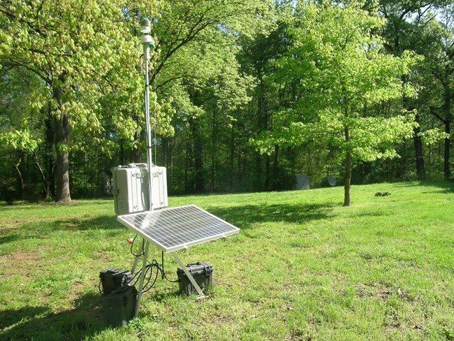 Portable ozone monitoring system at Guilford Courthouse National Military Park.