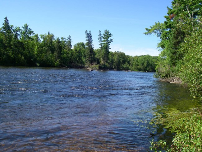 St. Croix River on a bright, sunny day