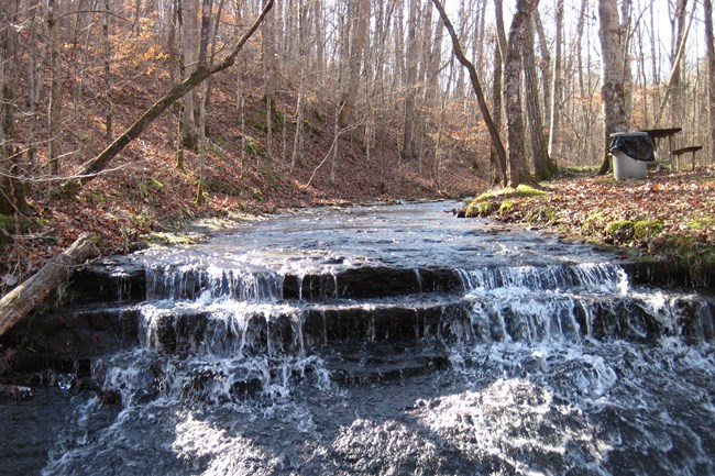 Waterfall near Natchez Trace Parkway