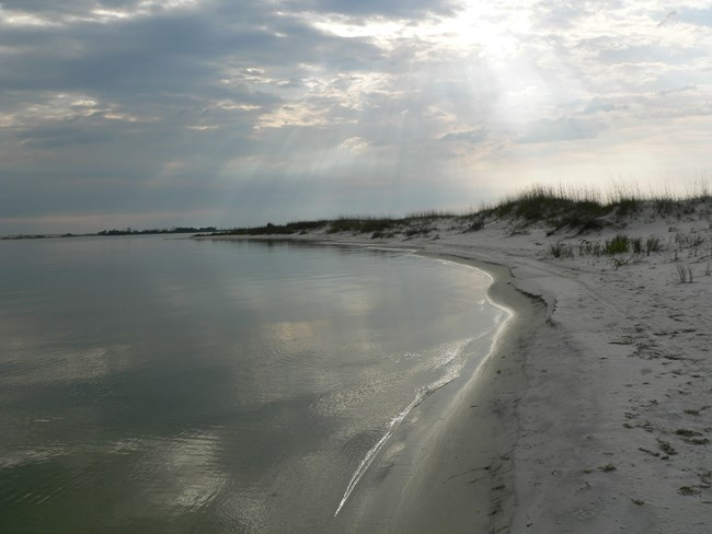 Shoreline at Perdido Key, Gulf Islands National Seashore, Florida