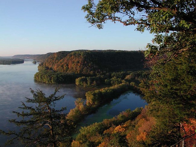 View of the Mississippi River from Effigy Mounds National Monument