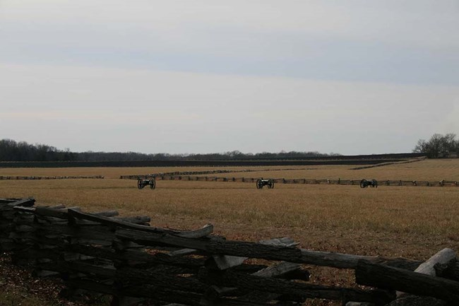 View across field at Pea Ridge National Military Park