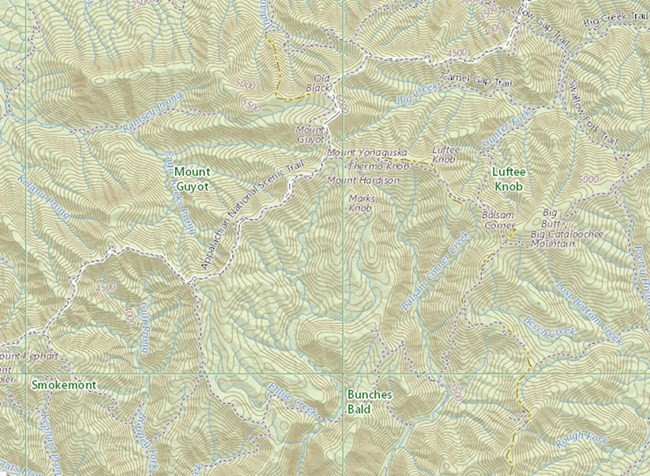 Portion of a 1:24,000-scale topographic map
