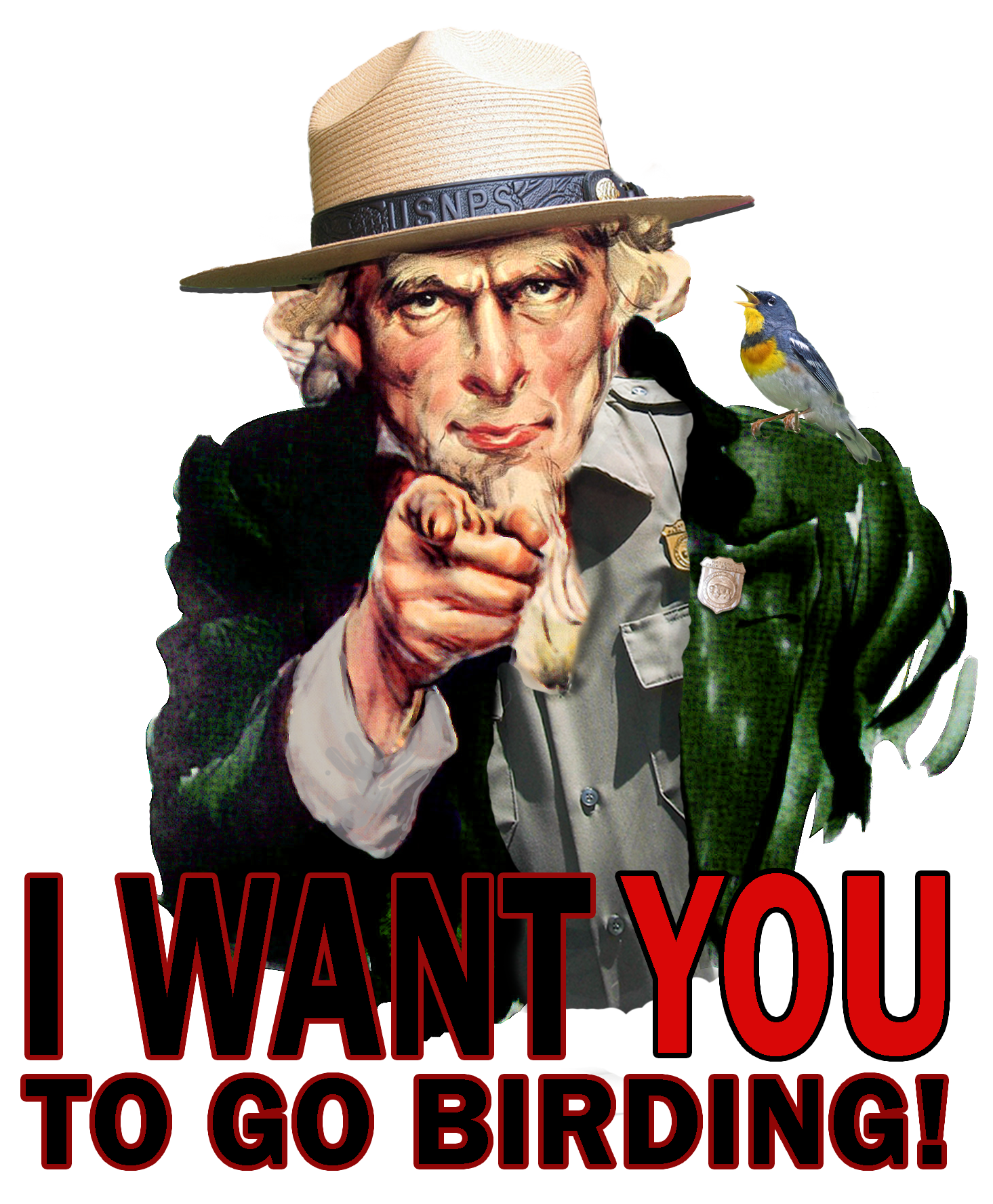Uncle Sam wants YOU to go birding!