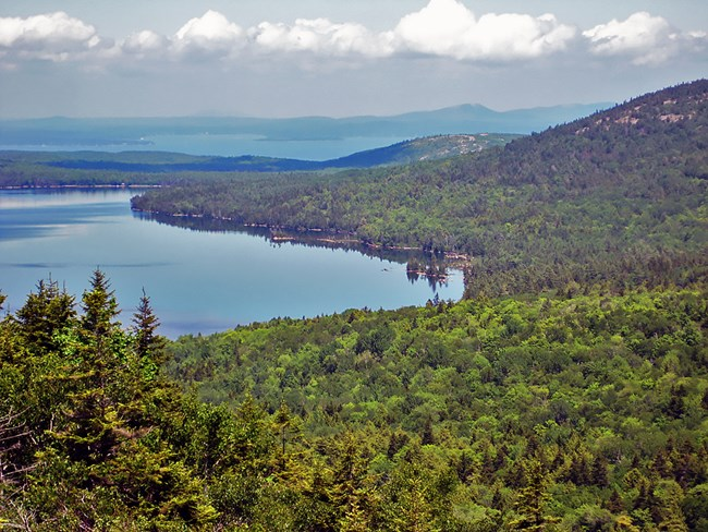 A view of Acadia National Park's Eagle Lake