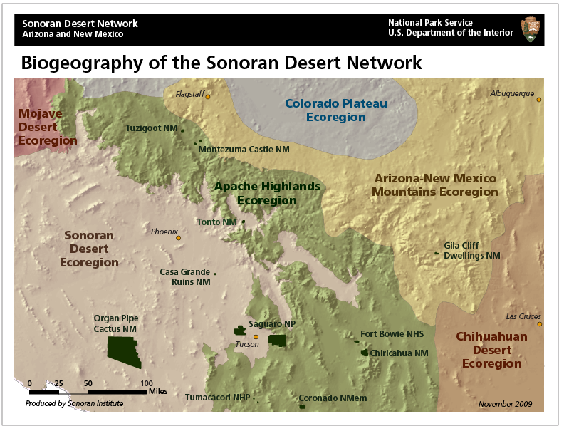 Biogeography of the Sonoran Desert Network