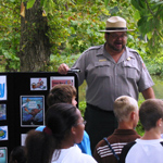 Park Ranger conducting an interpretive program