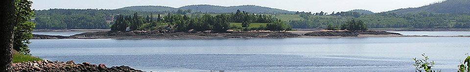 Saint Croix Island in middle of river