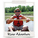 Find an Adventure: Paddler on the Mississippi River