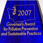 Washington State's Governor's Award for Pollution Prevention and Sustainable Practices