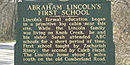 Picture of State Historic Marker 1482 about Lincoln's first school house