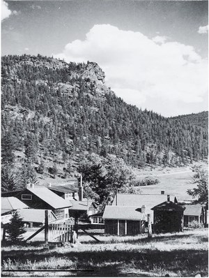 Black and White photo of the old McGraw Ranch.