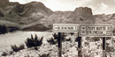 Road sign to Big Bend State Park, 1930s