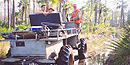 Hunters entering the Preserve on a swamp buggy. Photo courtesy of Jack Moller.