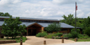 The front of the Tyler Bend Visitor Center.