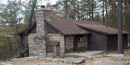 Cabin 2, constructed by the CCC in the 1930s, is available for rental through the park concessioner.
