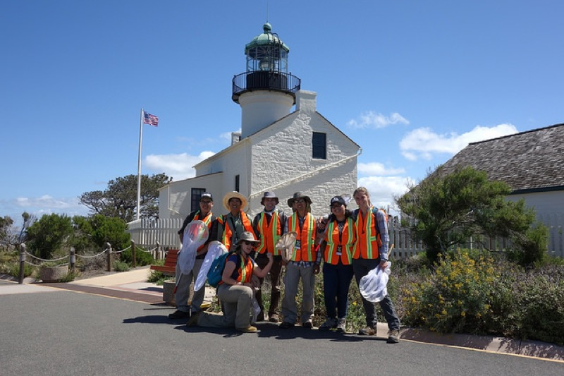 Volunteers participating in BioBlitz at Cabrillo