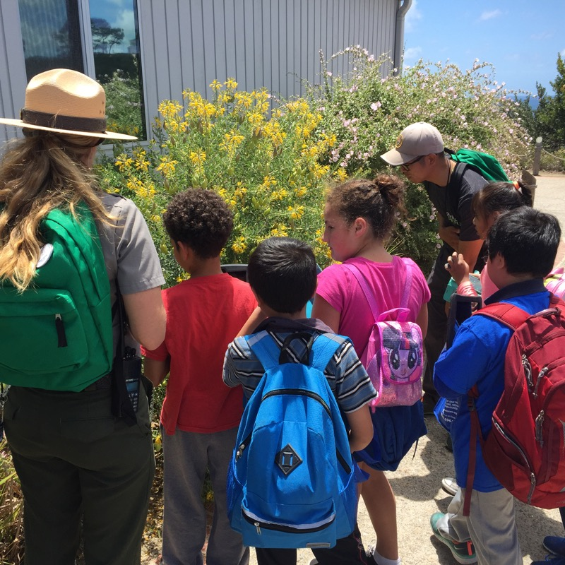Rangers and kids participating in the BioBlitz
